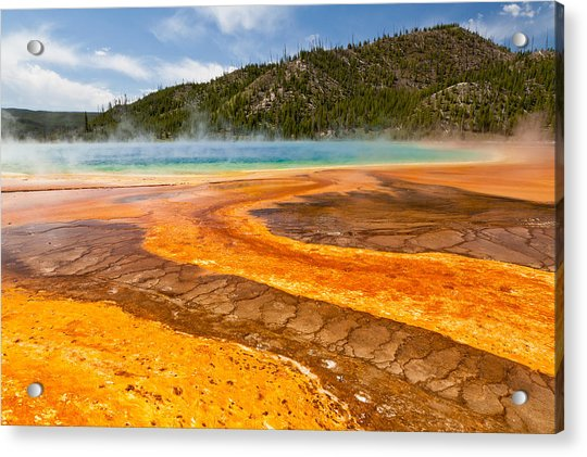 Yellow Brick Road - Grand Prismatic Spring Acrylic Print