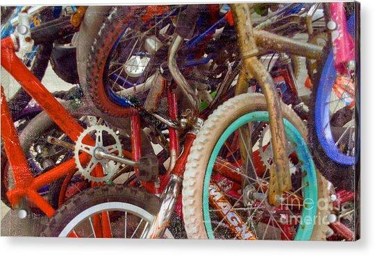 Yikes Bikes Acrylic Print