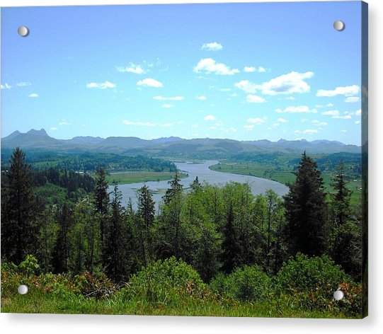 Youngs River And Saddle Mountain Acrylic Print