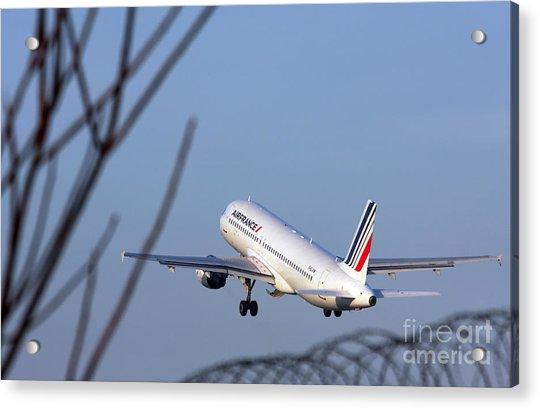Air France Airbus A320 - Msn 491-002 - F-gjvw  Acrylic Print