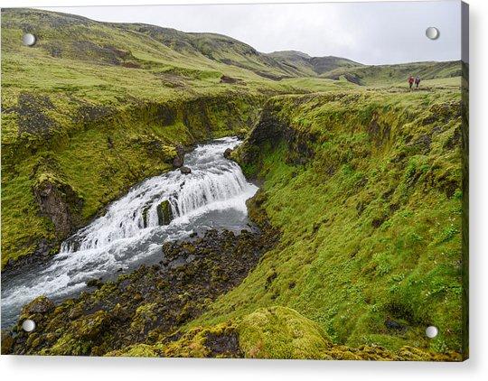 Fimmvorduhals Waterfall Acrylic Print