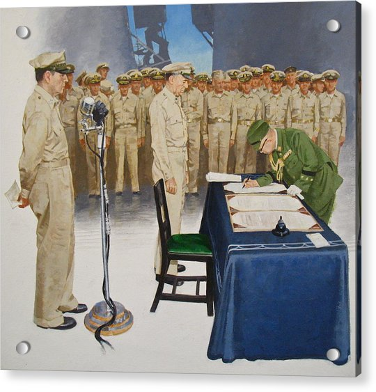 Acrylic Print featuring the painting  Macarthur by Cliff Spohn