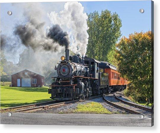 Old Vintage Steam Engine Acrylic Print