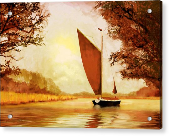 Acrylic Print featuring the painting  The Wherry Albion by Valerie Anne Kelly