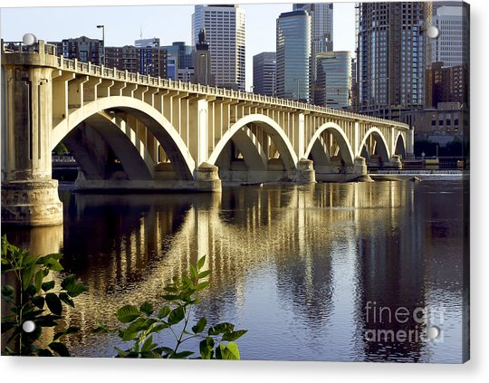 0333 3rd Avenue Bridge Minneapolis Acrylic Print