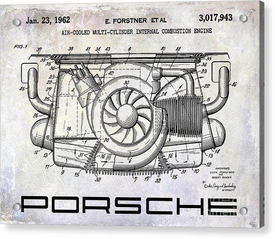 1962 Porsche Engine Patent Acrylic Print