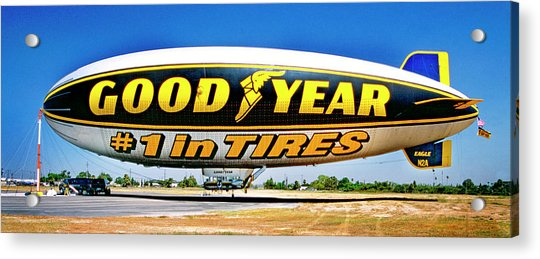 My Goodyear Blimp Ride Acrylic Print