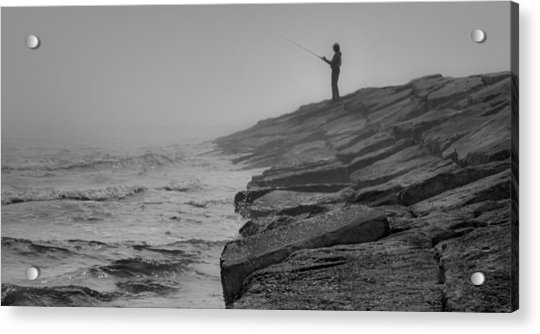 Coastal Solitude Acrylic Print by James Woody