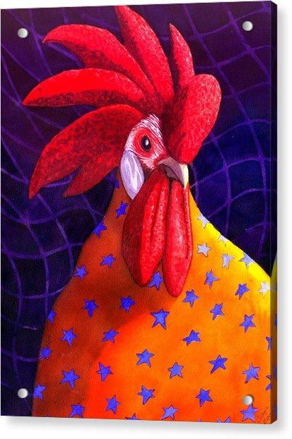 Cock A Doodle Dude Acrylic Print