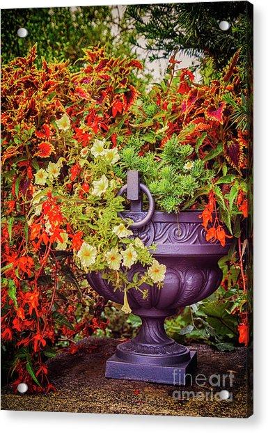 Decorative Flower Vase In Garden Acrylic Print