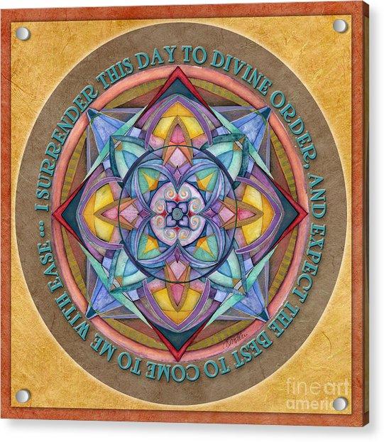 Divine Order Mandala Prayer Acrylic Print
