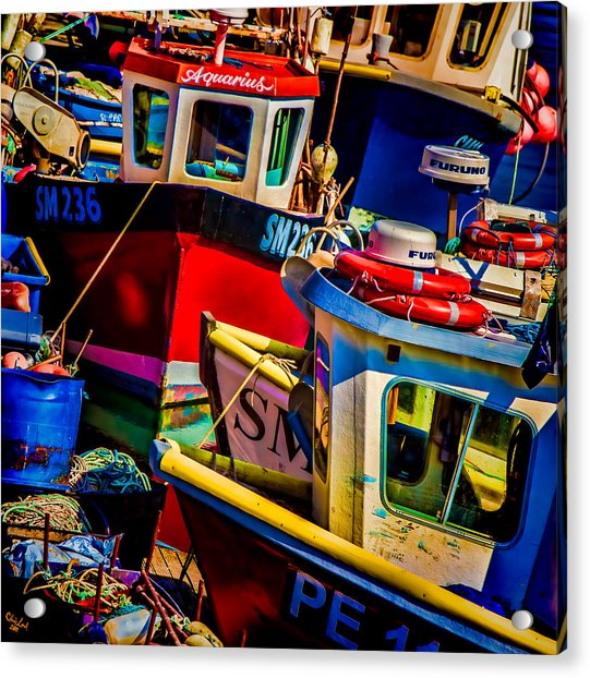 Acrylic Print featuring the photograph Fishing Fleet by Chris Lord