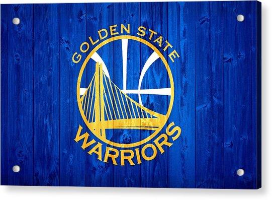 Golden State Warriors Door Acrylic Print
