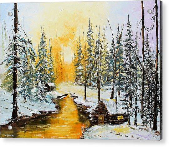 Golden Winter Acrylic Print