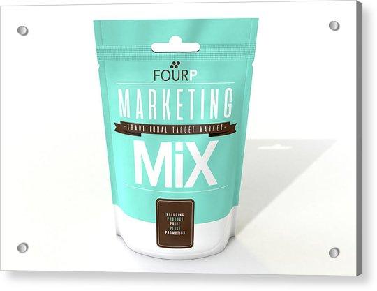 Marketing Mix 4 P's Acrylic Print
