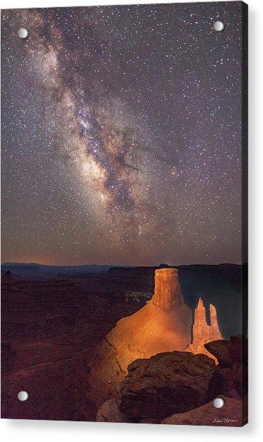 Milky Way At Marlboro Point Acrylic Print