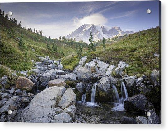 Mt. Rainier Acrylic Print by Michael Donahue