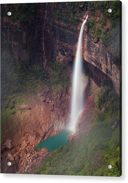 Nohkalikai Falls, Cherrapunji, Meghalaya, India Acrylic Print