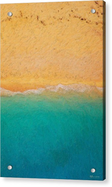 Not Quite Rothko - Surf And Sand Acrylic Print
