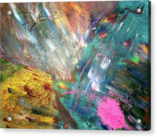 Acrylic Print featuring the painting Prana by Michael Lucarelli
