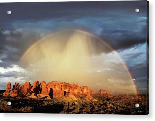 Rainbow Over Garden Of Eden Acrylic Print
