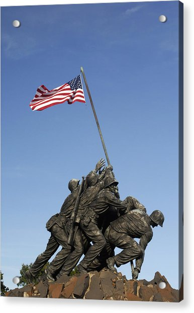 Raising The Flag On Iwo - 799 Acrylic Print