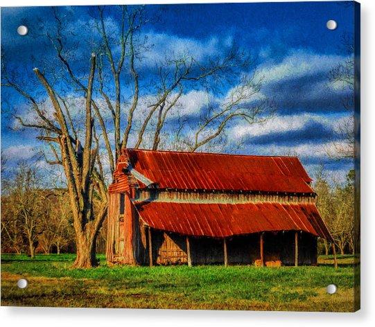 Red Roof Barn Acrylic Print