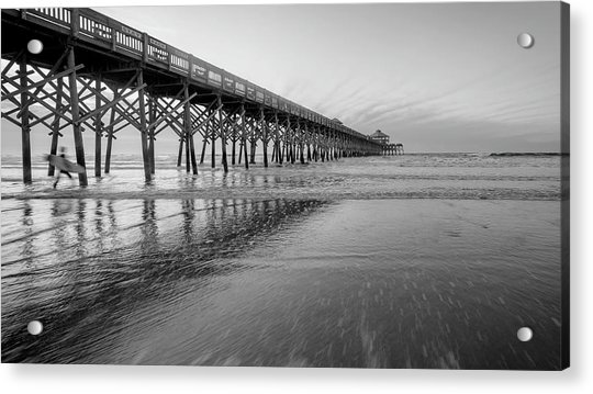 Shoot The Pier Acrylic Print by Michael Donahue