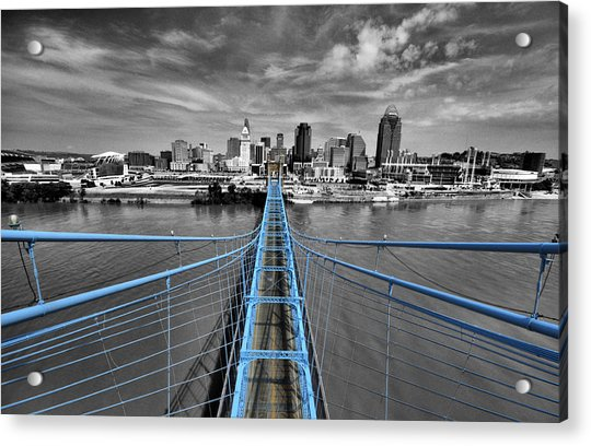 South Tower - Selective Color Acrylic Print