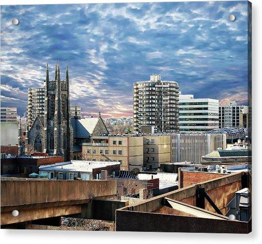 Stamford Cityscape Acrylic Print