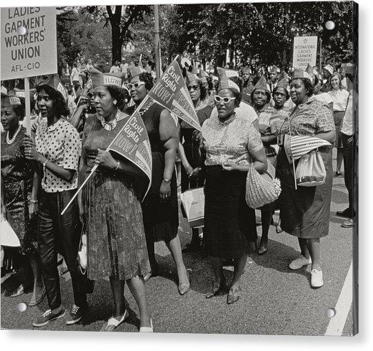 The March On Washington Acrylic Print