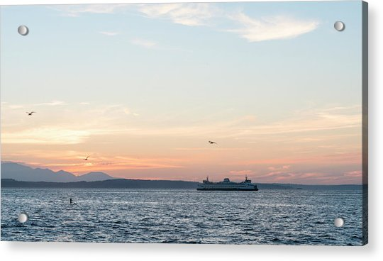 Twilight In Puget Sound Acrylic Print