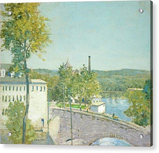 U.s. Thread Company Mills, Willimantic, Connecticut Acrylic Print