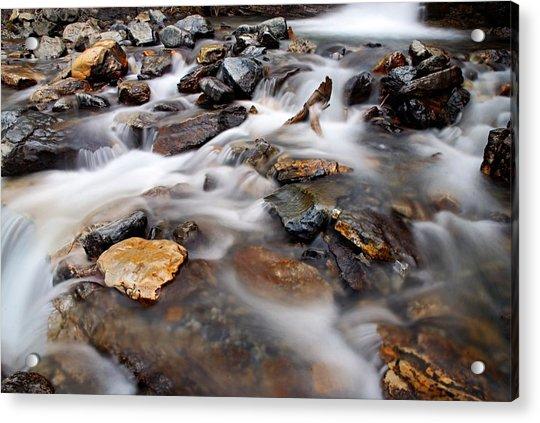 Water On The Rocks Acrylic Print