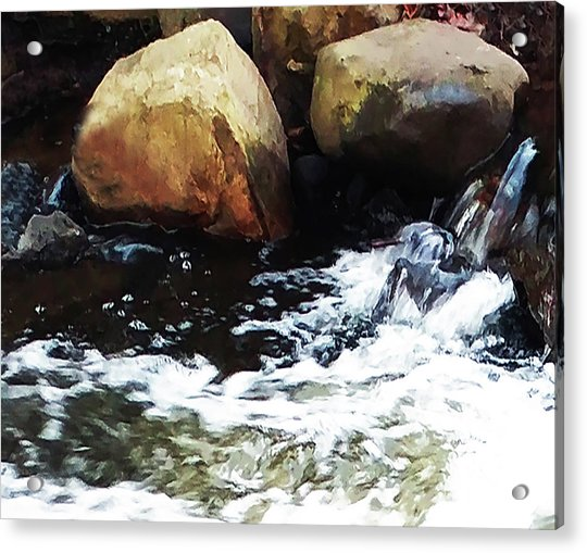 Waterfall Abstract Acrylic Print
