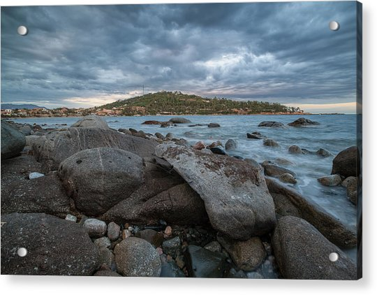 Winter Sea In Porto Frailis  Acrylic Print