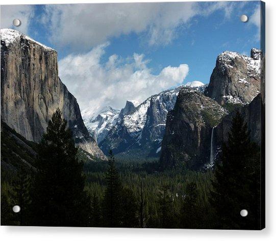 Yosemite Valley View In Winter Acrylic Print