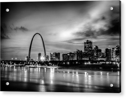 City Of St. Louis Skyline. Image Of St. Louis Downtown With Gate Acrylic Print