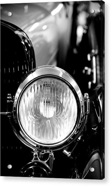 1925 Lincoln Town Car Headlight Acrylic Print