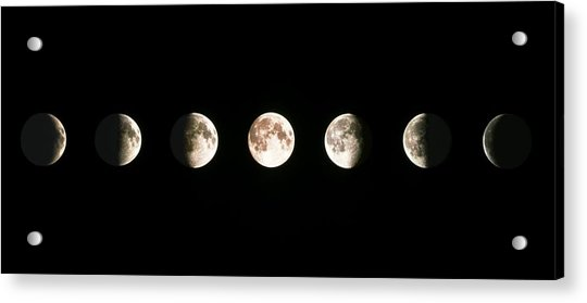 Composite Image Of The Phases Of The Moon Acrylic Print