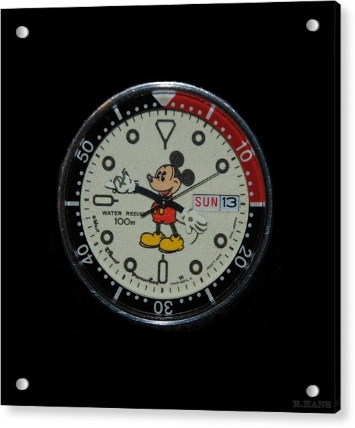 Mickey Mouse Watch Face Acrylic Print