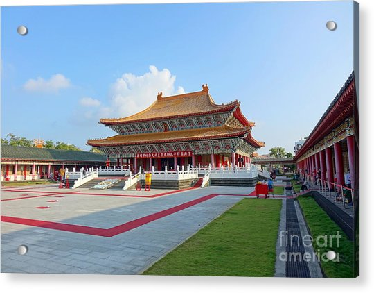 The Confucius Temple In Kaohsiung, Taiwan Acrylic Print
