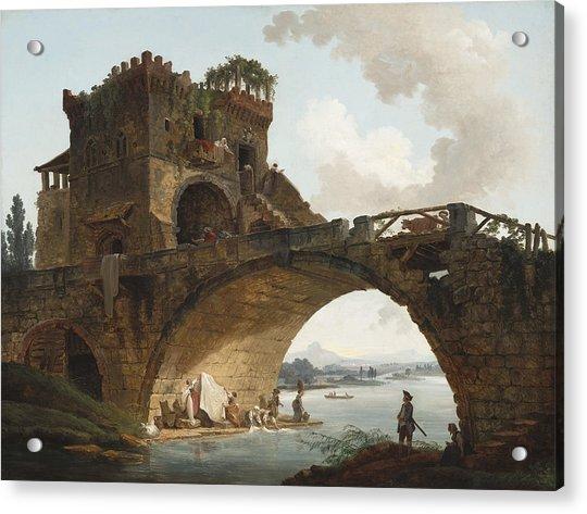 The Ponte Salario Acrylic Print