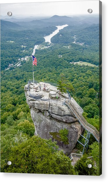 Lake Lure And Chimney Rock Landscapes Acrylic Print