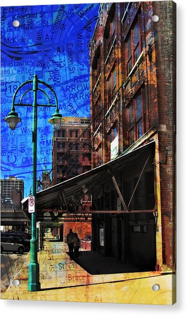 3rd Ward Awning Abstract Map Acrylic Print