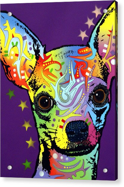 Chihuahua Warrior Acrylic Print by Dean Russo Art
