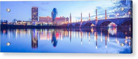 Springfield Massachusetts City Skyline Early Morning Acrylic Print