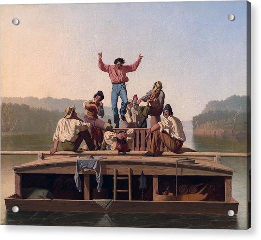 The Jolly Flatboatmen Acrylic Print