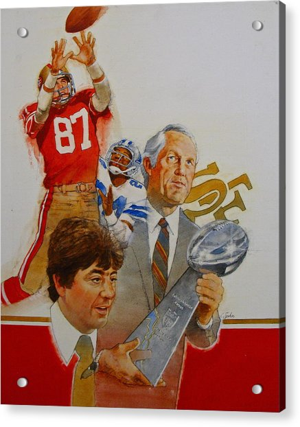 Acrylic Print featuring the painting 49rs Media Guide Cover 1982 by Cliff Spohn