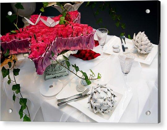 Christmas Table Acrylic Print